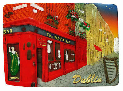 Fridge magnet - Dublin,irish souvenir,ireland 3D design gift TEMPLE BAR/NIGHT