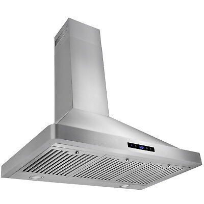 "Europe 36"" Kitchen Wall Mount Stainless Steel Range Hood Stove Vents w/ Filters"