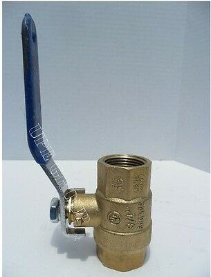 New 3/4 BRASS ball valve FULL FLOW 600 WOG  COMPRESSOR PLUMBING PIPING PIPE