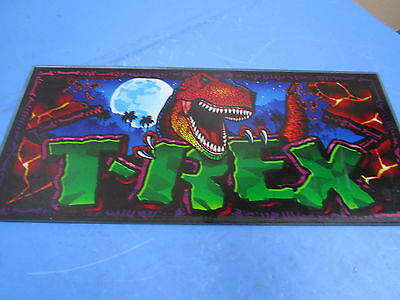 "Bally Gaming T-Rex 1993 9"" x 9 1/2"" Slot Machine Glass Design"