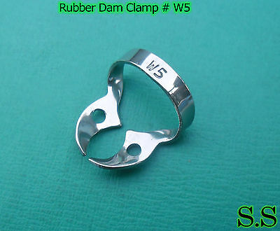 6 Endodontic Rubber Dam Clamp #W5 Surgical Dental Instruments