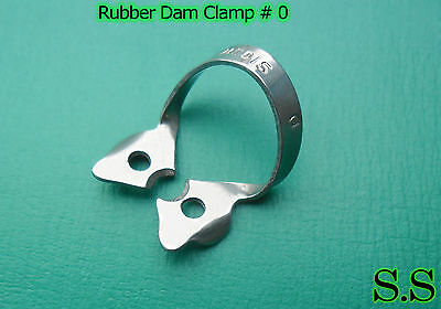 6 Endodontic Rubber Dam Clamp #0 Surgical Dental Instruments