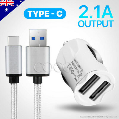 Mini Car Charger USB Type C Cable for Samsung S8 S8+ Plus Note 8 Pixel XL nexus