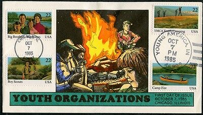 #2145 // #2370 Hand Painted Fdc Cachet By Collins (4) Different Bp7366