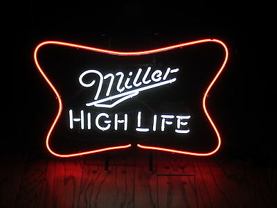 New Miller High Life Neon beer bar Light logo sign pub Man Cave MGD Lite 64