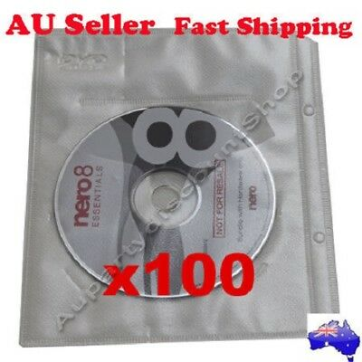 EBOX 100 [ Black or White ] CD Blue-ray DVD sleeves For dvd + Movie Game cover
