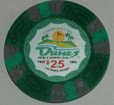 DUNES Casino $25 Commemorative Chip, Las Vegas, NV. Uncirculated. Obsoleted
