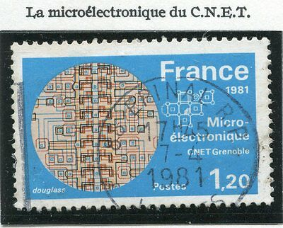Stamp / Timbre France Oblitere N° 2126 Le Microelectronique
