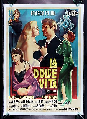 LA DOLCE VITA * CineMasterpieces FELLINI ORIGINAL ITALY ITALIAN MOVIE POSTER '60