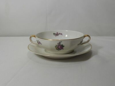 Haviland for Kingsmills London H4298 Cream Soup Cup and Saucer