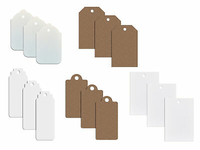 Plain Card Clothing Tags / Tagging Gun Price Labels