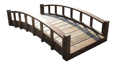 SamsGazebos 6' Japanese Garden Footbridges with Arched Railings, Made in USA
