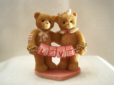 "Cherished Teddies:  ""Love"" Bears With Love Letters Mini Double Figurine"
