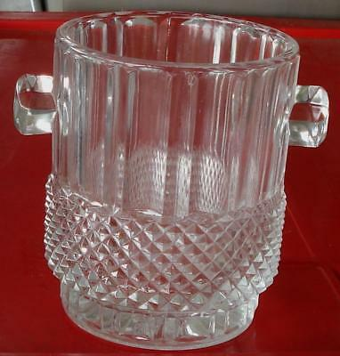"Nice Pressed Glass 4.5"" Ice Bucket, VERY GOOD CONDITION"