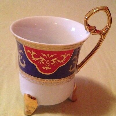 Yamasen Gold Collection Fine Porcelain 24 CT Gold Plated Cup--set Of 3