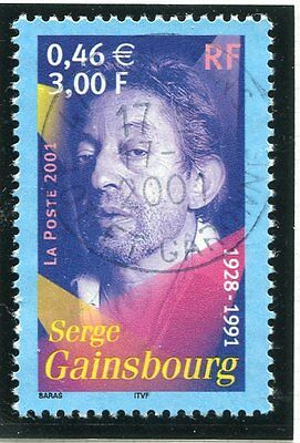 TIMBRE FRANCE OBLITERE N° 3393 SERGE GAINSBOURG  /  Photo non contractuelle