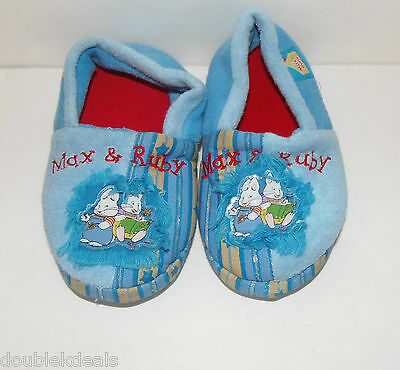 Girls / Boys Toddler Size 9/10 Max And Ruby Slippers - Rubber Bottom Very Rare