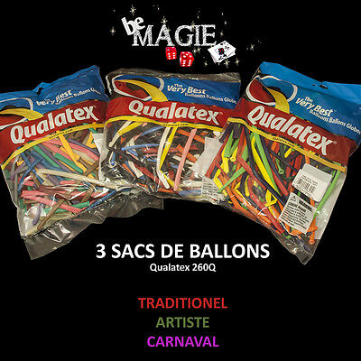 sac sculpture Fluorescent 260 Q 100 Ballons Qualatex NEON Magie