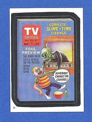 1986    Topps   Original   Wacky Packages   Test Series  # 29 TV Ghoul