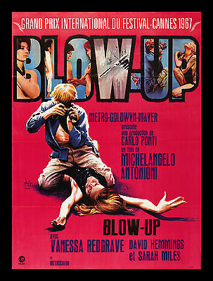 BLOW UP * BLOW-UP PHOTO MODEL CineMasterpieces FRENCH ORIGINAL MOVIE POSTER 1969