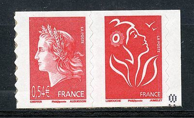 Stamp / Timbre France  N° P4109 ** En Paire  Marianne De Cheffer / Autoadhesif