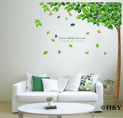 Large Love Tree Wall Art Stickers Removable Kids Vinyl Decal Home Decor Green