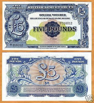 Great Britain, 5 pounds, Armed Forces, ND (1948,) M23, UNC