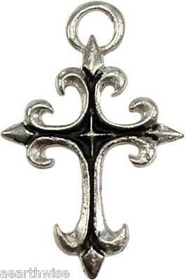 GOTHIC CROSS PENDANT WITH BLACK CORD Wicca Witch Spiritual Pagan Goth New Age