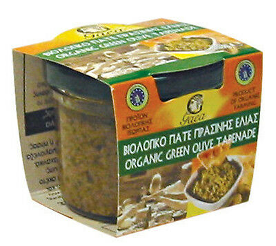 ORGANIC GREEN OLIVE TAPENADE 100g