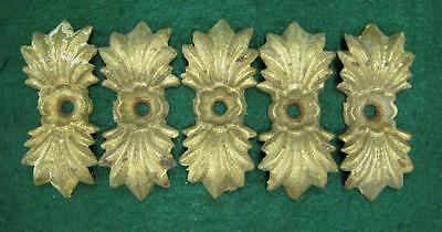 Lot of 5 Antique Cast Iron Gold Medalions Architectual Fence Garden  #1228-13