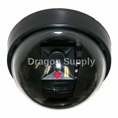 New Fake Dome Security Camera w/Red Flashing Light Imitation Surveillance