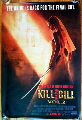 KILL BILL VOL 2 Bride Advance 2004 1SH One Sheet DS Rolled MOVIE POSTER