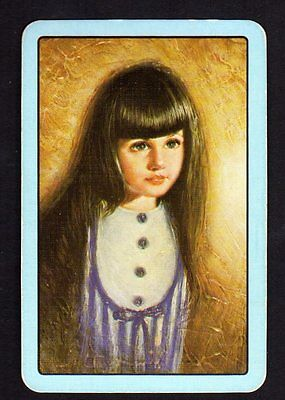 Vintage Swap/Playing Card - Portrait of Girl