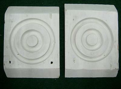 Pair of Antique Architectural Bullseye Blocks #1248-13