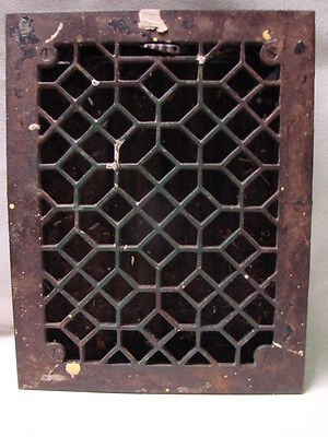 Antique Late 1800's Cast Iron Heating Grate Unique Ornate Design 13.75 X 10.75 G