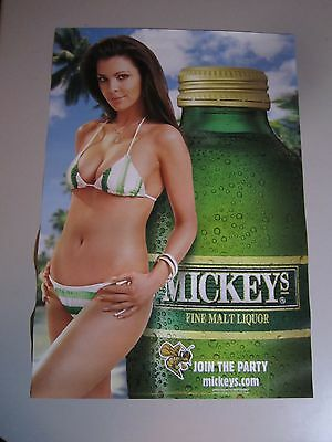 Mickeys Latina Hot Chick Poster Mickey Hornet Wide Mouth Sexy woman Bar Beer