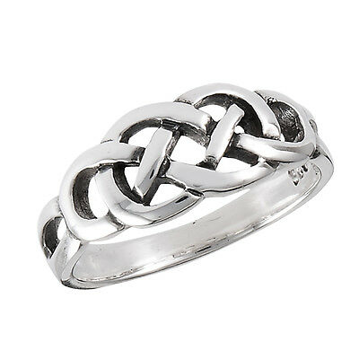 Sterling Silver Celtic Weavy Knot Ring Size 5-9