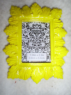 """4"""" Tall x 3.25"""" Wide Rectangle Yellow Easel Back Table Top Photo Frame"""