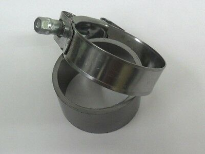 EXHAUST PIPE to SILENCER CLAMP & SEAL  for PIAGGIO X9 500 cc