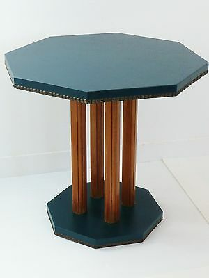 TABLE D'APPPOINT HEXAGONALE 1940-1950 VINTAGE DESIGN 40's 50's COFFEE TABLE