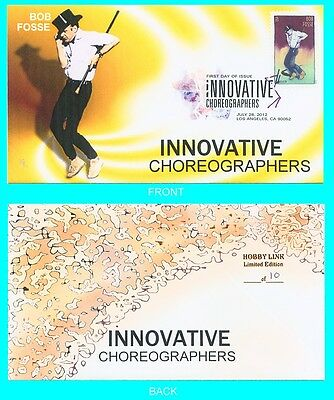 Innovative Choreographers Set of 4 First Day Covers with Color Cancels