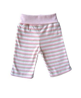 Under The Nile 100% Organic Cotton Baby Roll Top Trousers Pink Stripe 3-6 M