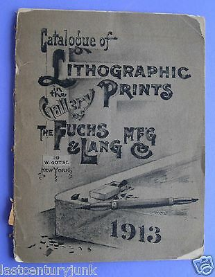 Catalog  Of Lithographic Prints Gallery Of Fuch & Lang Mfg Co 1913 1st Printing