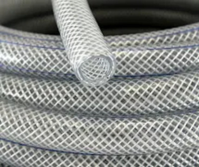 Clear Braided PVC Hose Pipe Tube Reinforced - Food Safe Grade - Water Liquid Oil