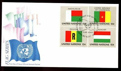 United Nations 1980 Flags FDC #C4214