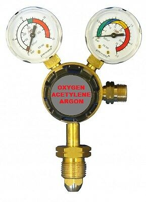 Parweld Welding Regulator Single Stage 2 Guage Acetylene, Argon & Oxygen