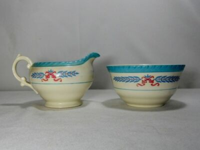 Crown Ducal Cambridge Creamer and Sugar Bowl Set (Various Degrees of Crazing)