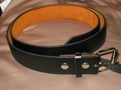 Leather Belt With Snaps For Interchangeable Buckles 1 1/2 Inch