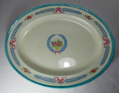 Crown Ducal Cambridge Oval Serving Platter (Various Degrees of Crazing)