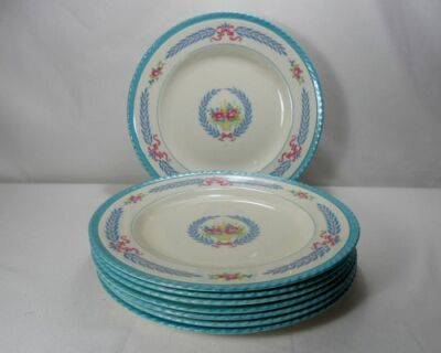 Crown Ducal Cambridge Set of 8 Salad Plates (Various Degrees of Crazing)